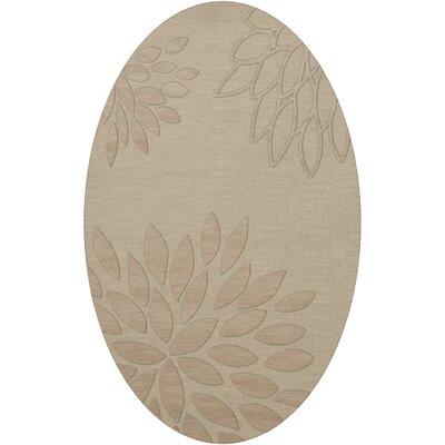 Bao Linen Area Rug Rug Size: Oval 10 x 14