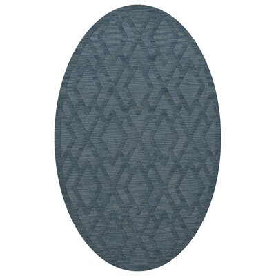 Dover Tufted Wool Sky Area Rug Rug Size: Oval 5 x 8