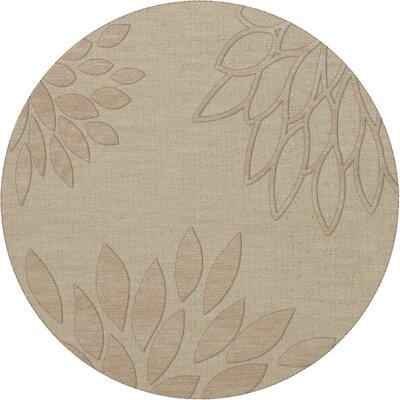 Bao Linen Area Rug Rug Size: Round 6'