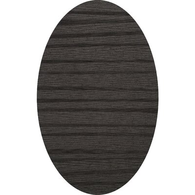 Dover Tufted Wool Ash Area Rug Rug Size: Oval 5 x 8