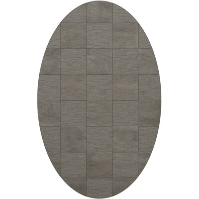 Dover Silver Area Rug Rug Size: Oval 12 x 18