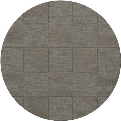 Dover Silver Area Rug Rug Size: Round 8