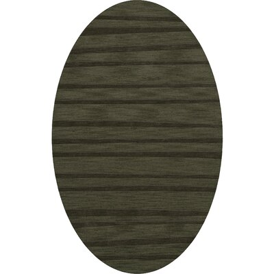 Dover Tufted Wool Fern Area Rug Rug Size: Oval 3 x 5