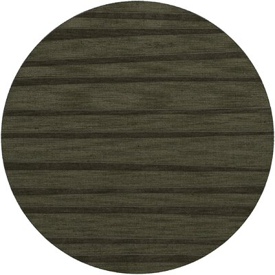Dover Tufted Wool Fern Area Rug Rug Size: Round 4