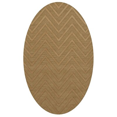 Dover Tufted Wool Wheat Area Rug Rug Size: Oval 5 x 8