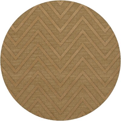 Dover Tufted Wool Wheat Area Rug Rug Size: Round 4