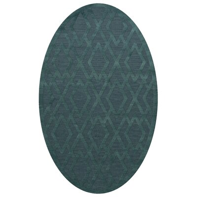 Dover Teal Area Rug Rug Size: Oval 10 x 14
