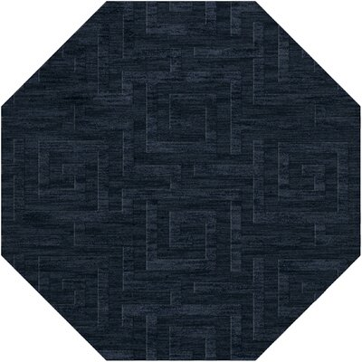 Dover Tufted Wool Navy Area Rug Rug Size: Octagon 12'