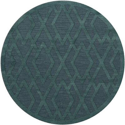 Dover Teal Area Rug Rug Size: Round 12