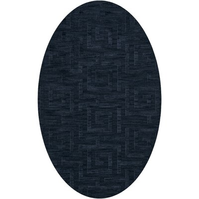 Dover Tufted Wool Navy Area Rug Rug Size: Oval 3 x 5