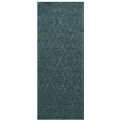 Dover Teal Area Rug Rug Size: Runner 26 x 12