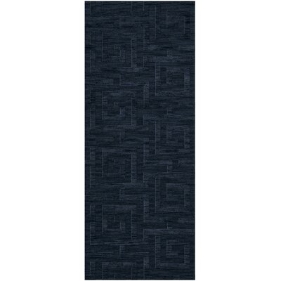 Dover Tufted Wool Navy Area Rug Rug Size: Runner 26 x 8