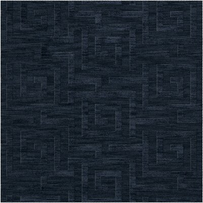 Dover Tufted Wool Navy Area Rug Rug Size: Square 8