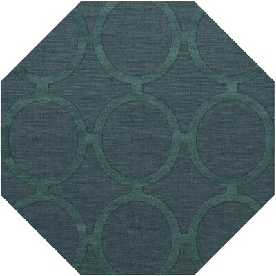 Dover Tufted Wool Teal Area Rug Rug Size: Octagon 12