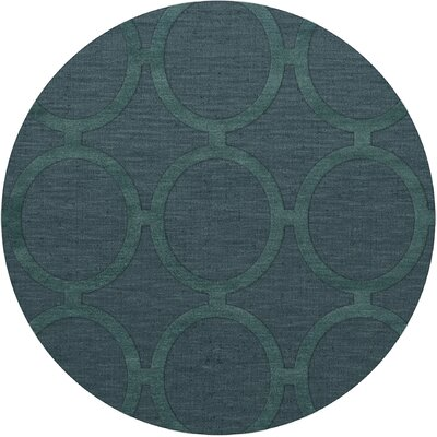 Dover Tufted Wool Teal Area Rug Rug Size: Round 10
