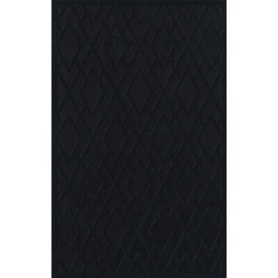 Dover Black Area Rug Rug Size: Rectangle 12 x 18