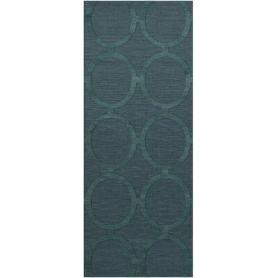 Dover Tufted Wool Teal Area Rug Rug Size: Runner 26 x 12