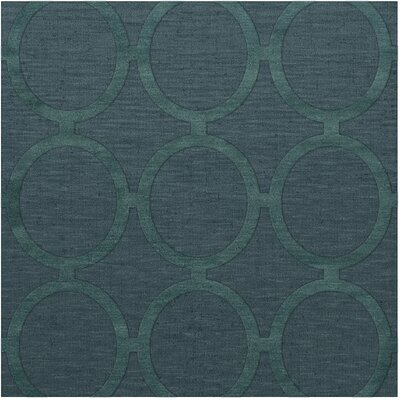 Dover Tufted Wool Teal Area Rug Rug Size: Square 6