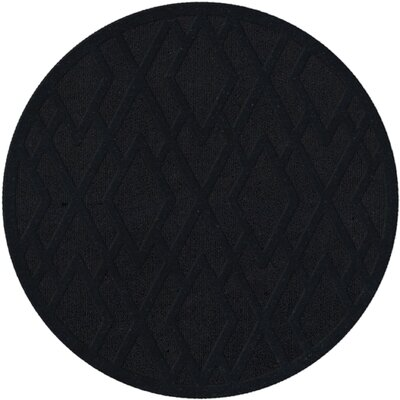 Dover Black Area Rug Rug Size: Round 6