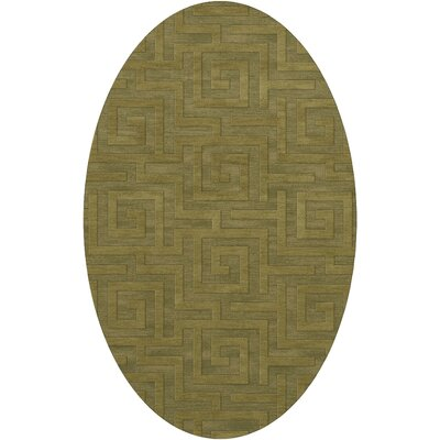 Dover Tufted Wool Pear Area Rug Rug Size: Oval 9 x 12