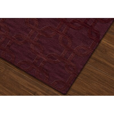Dover Burgundy Area Rug Rug Size: Square 12