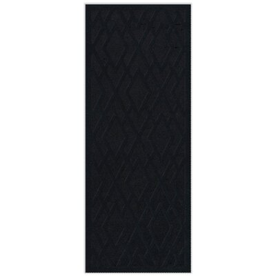 Dover Black Area Rug Rug Size: Runner 26 x 12