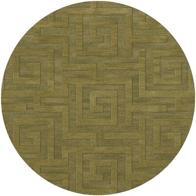 Dover Tufted Wool Pear Area Rug Rug Size: Round 12