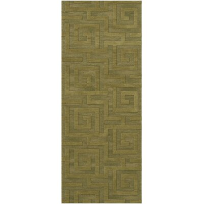 Dover Tufted Wool Pear Area Rug Rug Size: Runner 26 x 8