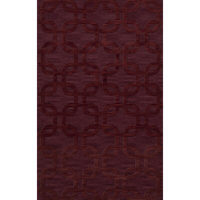 Dover Burgundy Area Rug Rug Size: Rectangle 5 x 8