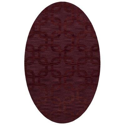 Dover Burgundy Area Rug Rug Size: Oval 6 x 9