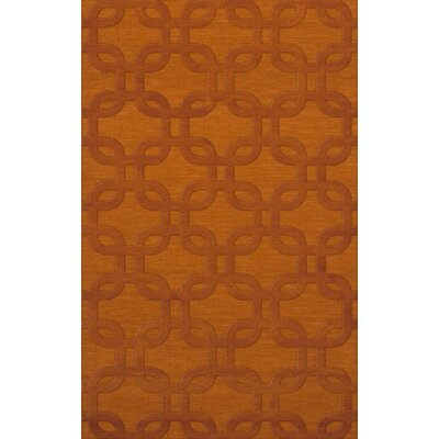 Dover Orange Area Rug Rug Size: Rectangle 9 x 12