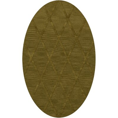 Dover Tufted Wool Avocado Area Rug Rug Size: Oval 8 x 10