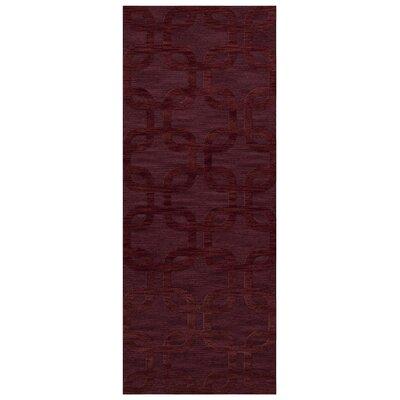 Dover Burgundy Area Rug Rug Size: Runner 26 x 12