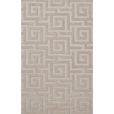 Dover Tufted Wool Putty Area Rug Rug Size: Rectangle 4 x 6