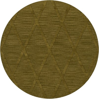 Dover Tufted Wool Avocado Area Rug Rug Size: Round 6