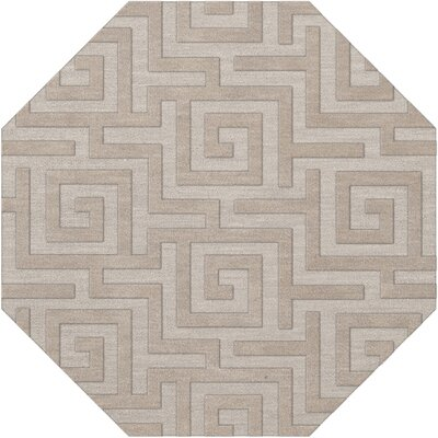 Dover Tufted Wool Putty Area Rug Rug Size: Octagon 8