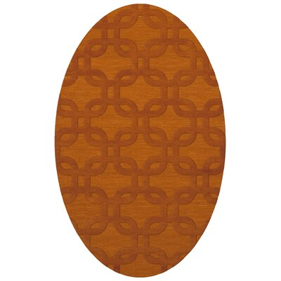 Dover Orange Area Rug Rug Size: Oval 12 x 15