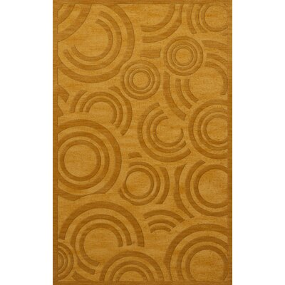 Dover Tufted Wool Butterscotch Area Rug Rug Size: Rectangle 4 x 6
