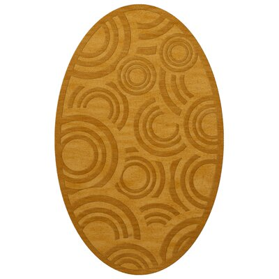 Dover Tufted Wool Butterscotch Area Rug Rug Size: Oval 6 x 9