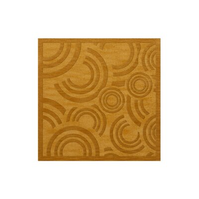 Dover Tufted Wool Butterscotch Area Rug Rug Size: Square 12