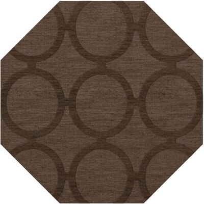 Dover Tufted Wool Mocha Area Rug Rug Size: Octagon 10