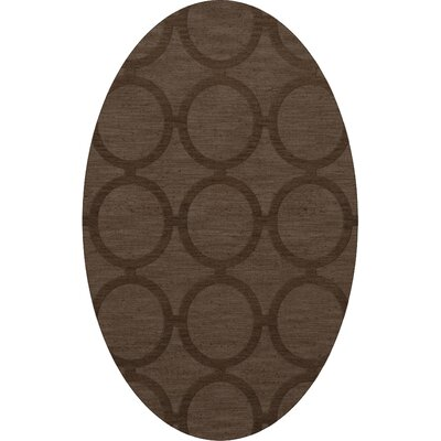 Dover Tufted Wool Mocha Area Rug Rug Size: Oval 4' x 6'