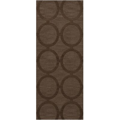 Dover Tufted Wool Mocha Area Rug Rug Size: Runner 26 x 8