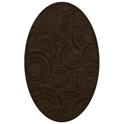 Dover Tufted Wool Fudge Area Rug Rug Size: Oval 4 x 6