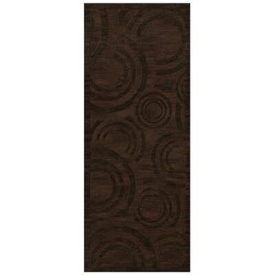 Dover Tufted Wool Fudge Area Rug Rug Size: Runner 26 x 8