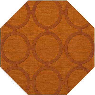 Dover Orange Area Rug Rug Size: Octagon 8
