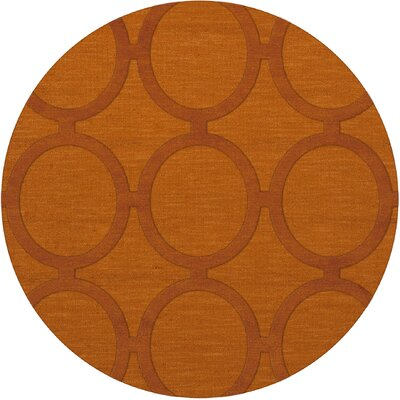 Dover Orange Area Rug Rug Size: Round 4