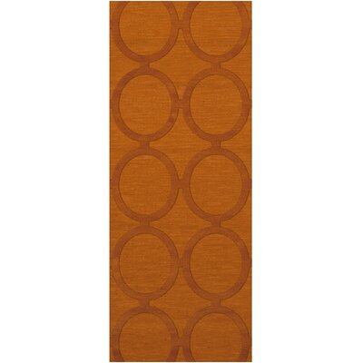 Dover Orange Area Rug Rug Size: Runner 26 x 10