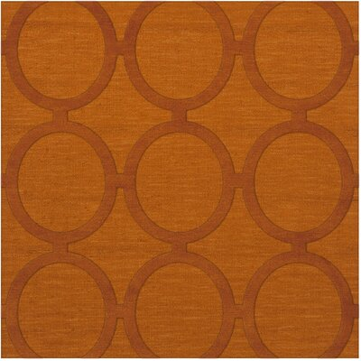 Dover Orange Area Rug Rug Size: Square 12