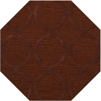 Dover Tufted Wool Paprika Area Rug Rug Size: Octagon 8'